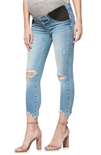 Verdugo Raw Hem Crop Skinny Maternity Jeans