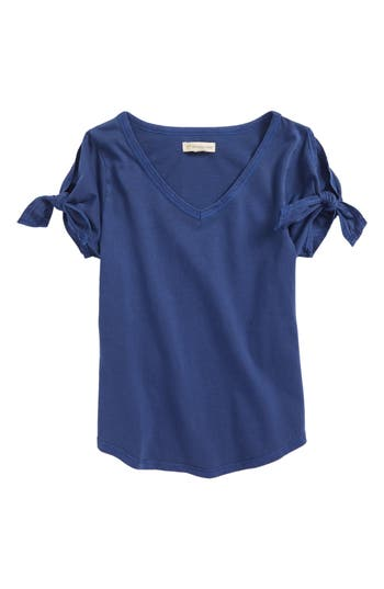 Girls Tucker  Tate Tie Sleeve Tee