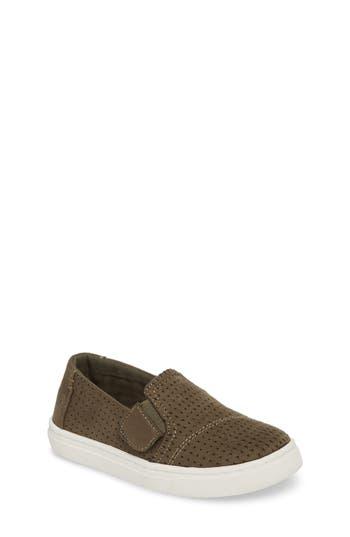Toddler Boys Toms Luca SlipOn Sneaker Size 8 M  Green