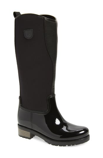Dav Parma 2 Tall Waterproof Rain Boot, Black