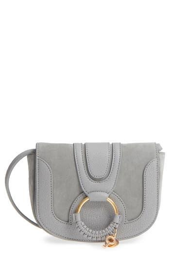 See By Chloe Mini Hana Leather Crossbody Bag - Grey