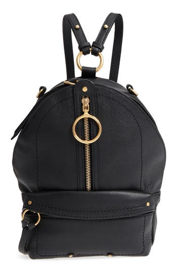 See By Chloe Mini Mino Leather Backpack - Black
