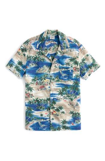 J.crew Slim Fit Island Print Sport Shirt, Blue