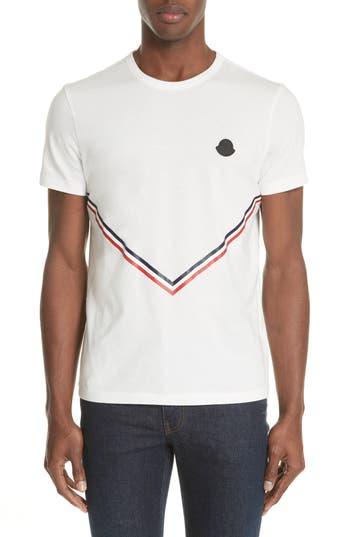 Men's Moncler Chevron Stripe Print T-Shirt