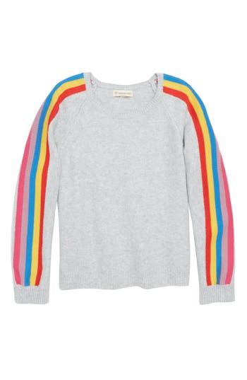 Girls Tucker  Tate Rainbow Sleeve Sweater