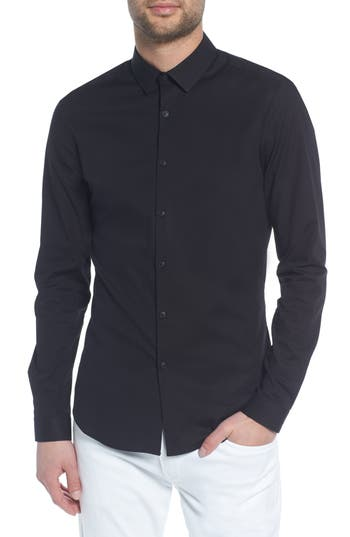 Topman Stretch Skinny Fit Shirt