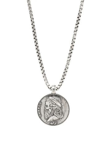 Degs & Sal Greek Skull Pendant Necklace