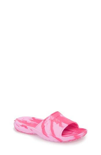 Boys Crocs TM Classic Swirl Slide Size 5 M  Pink