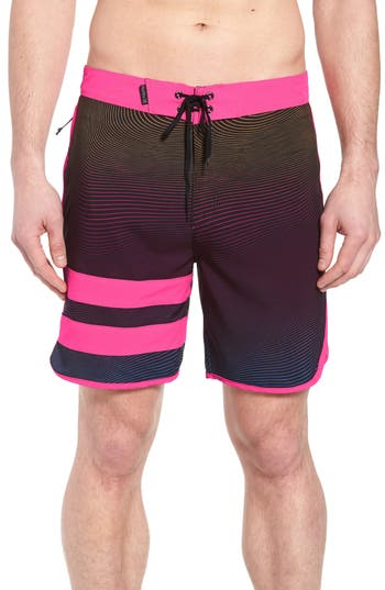 Hurley Phantom Static Block Party Board Shorts, Pink