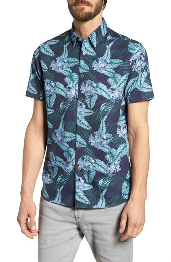 Men's Ted Baker London Folinor Slim Fit Floral Cotton Shirt