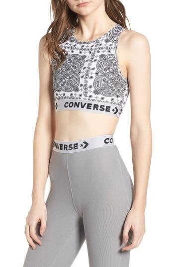 Converse X Miley Cyrus Bandana Print Sports Bra, White