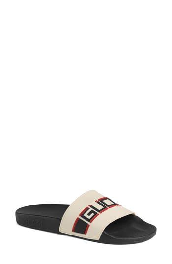 Gucci Pursuit Logo Slide Sandal
