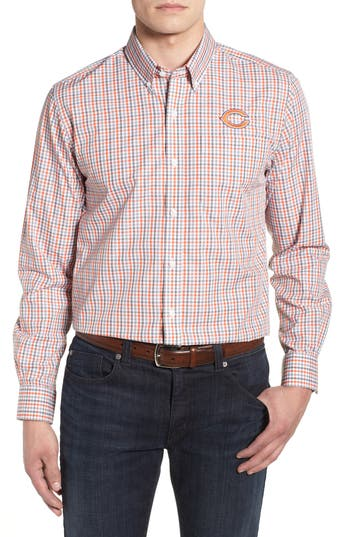 Men's Cutter & Buck Chicago Bears - Gilman Regular Fit Plaid Sport Shirt