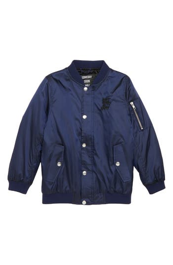 Boys Sometime Soon Perry Jacket Size 4Y  Blue