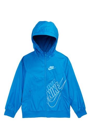 Boys Nike Sportswear Windrunner Jacket Size XS  7  Blue