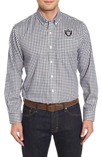 Men's Cutter & Buck League Oakland Raiders Regular Fit Shirt