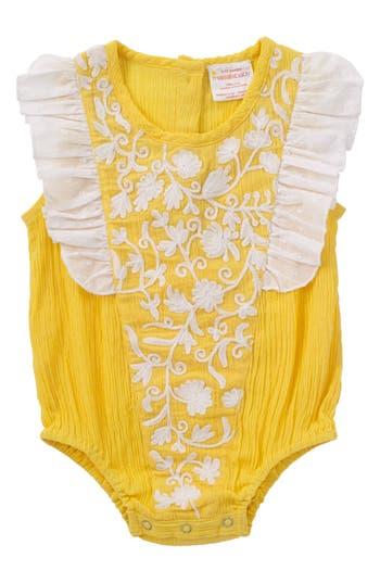 Infant Girls Masala Baby Ruffle Bubble Bodysuit