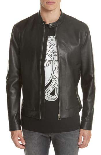 Versace Collection Moto Leather Jacket