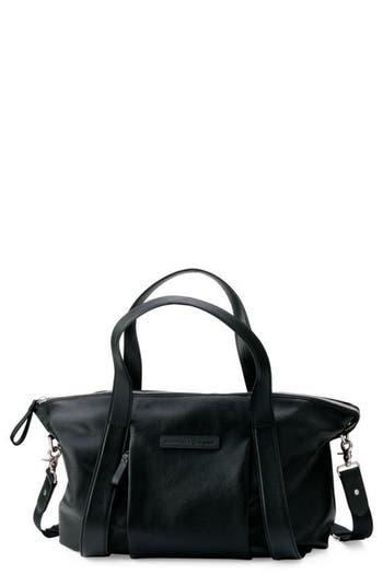 Infant Bugaboo X Storksak Leather Diaper Tote Bag