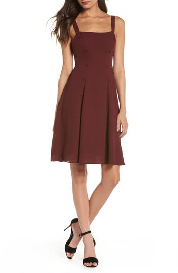 FAME AND PARTNERS SIENNE FIT & FLARE DRESS