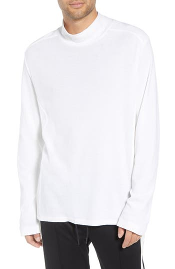 Men's Vince Regular Fit Waffle Knit Turtleneck Top, Size Small - White