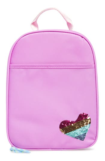 Girls Crewcuts By Jcrew Lunchbox With Reversible Sequin Heart