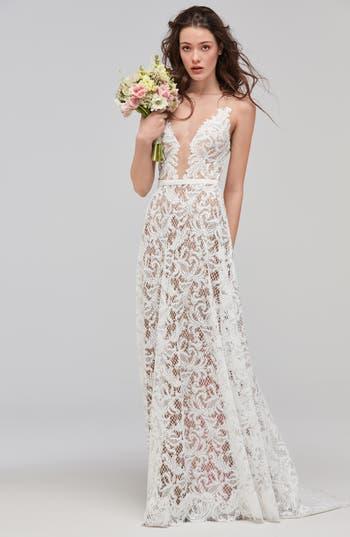 Willowby Asa Sleeveless V-Neck Lace & Tulle Wedding Dress