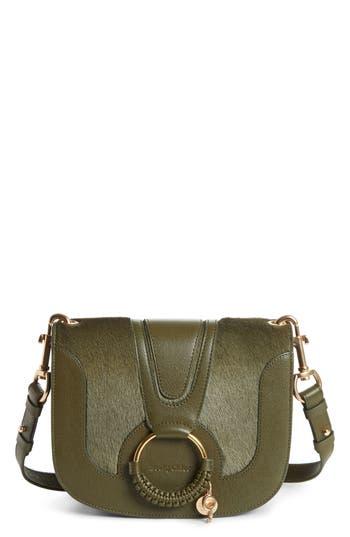 See by Chloé Hana Leather & Genuine Calf Hair Shoulder Bag