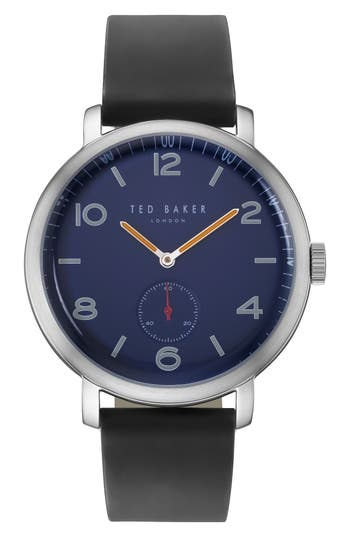 Ted Baker London Leather Strap Watch, 43mm