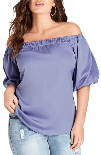 CITY CHIC AKEMI OFF THE SHOULDER TOP