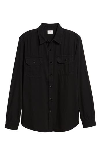 Men's Ag Benning Slim Fit Utility Shirt, Size Small - Black