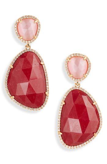 Stella + Ruby Jade Drop Earrings