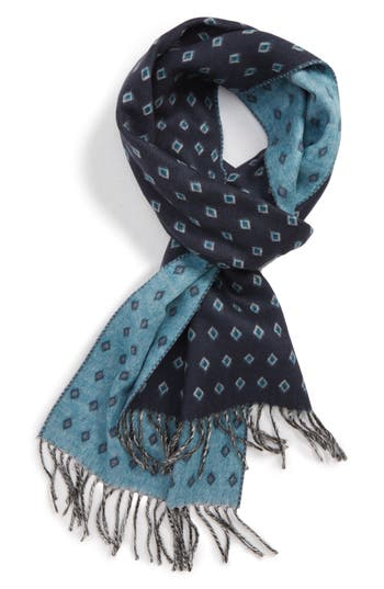 Ted Baker London Diamond Pattern Fringed Scarf