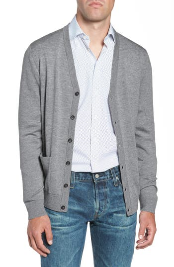 Nordstrom Men's Shop Merino V-Neck Cardigan
