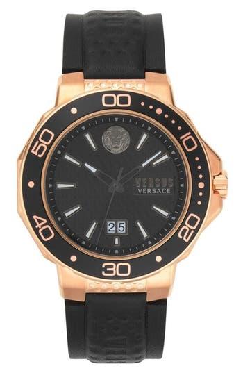 VERSUS Versace Kalk Bay Leather Strap Watch, 44mm