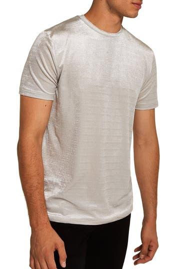 Topshop Velour Classic Fit T-Shirt