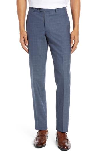 Nordstrom Men's Shop Trim Fit Flat Front Stretch Wool Pants