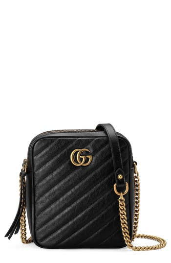 Gucci Mini Marmont 2.0 Leather Crossbody Bag