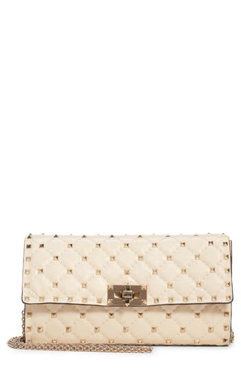 VALENTINO GARAVANI Rockstud Matelassé Quilted Leather Shoulder Bag