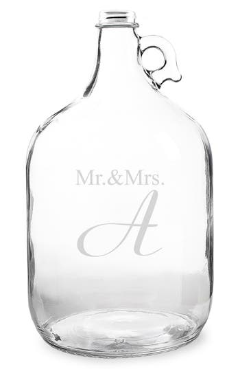 Cathy's Concepts 'Mr. & Mrs. - Wedding Wishes In A Bottle' Gallon Growler Guest Book