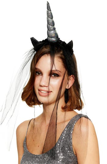 Topshop Dark Unicorn Veil Headband