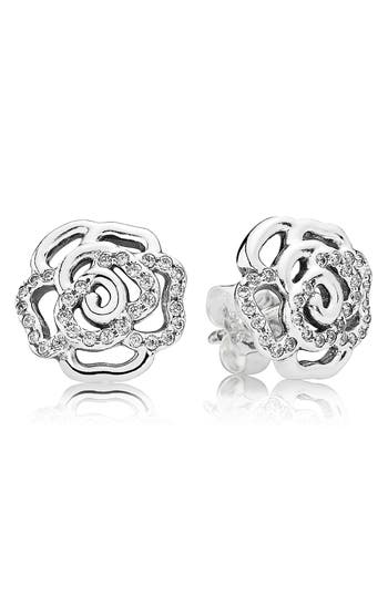 PANDORA 'Shimmering Rose' Stud Earrings