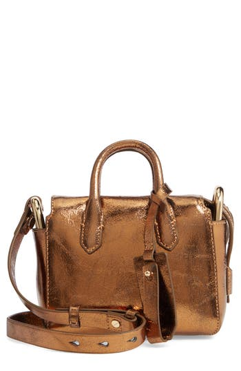 J.Crew Mini Metallic Leather Shoulder/Crossbody Satchel