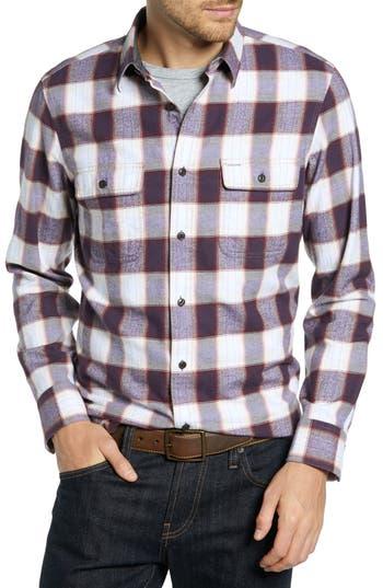 1901 Trim Fit Trucker Check Flannel Sport Shirt