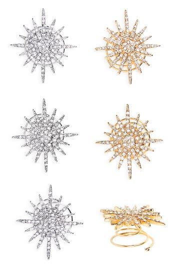 Tasha Set of 6 Mixed Starburst Hair Pins