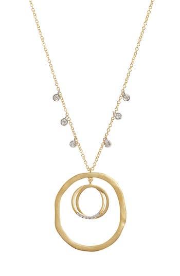MeiraT Open Circle Pendant Necklace