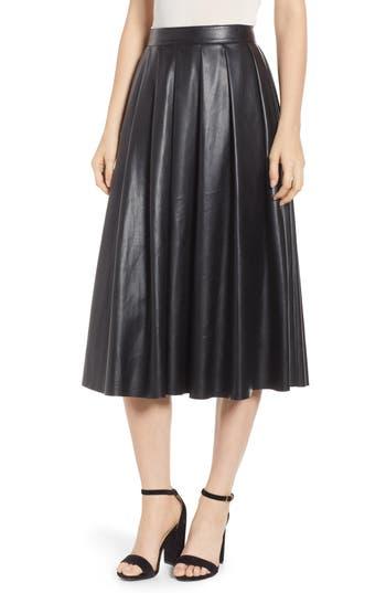 Hudson Faux Leather Midi Skirt