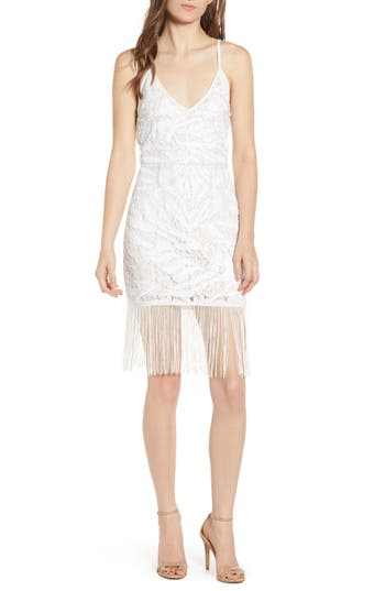 Endless Rose Sequin & Fringe Lace Dress