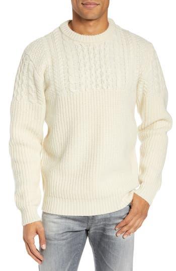 Schott NYC Half Cable Crewneck Sweater
