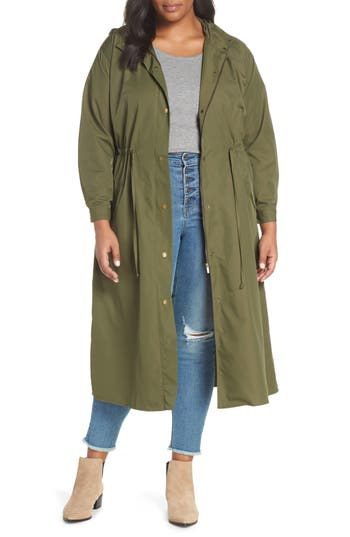 Vince Camuto Water Resistant Hooded Rain Jacket